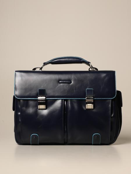 Piquadro: Square Piquadro satchel bag in calfskin