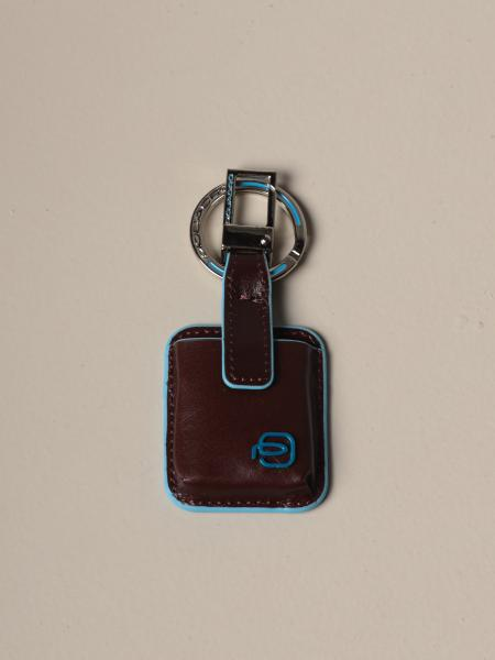 Piquadro: Piquadro keychain with CONNEQU in leather