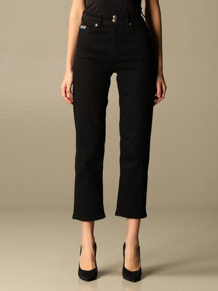 Versace Jeans Couture cropped jeans with logo