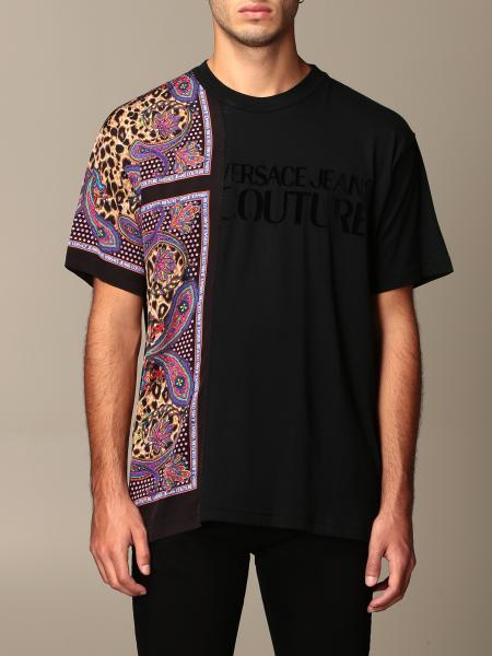 Versace Jeans Couture T-shirt with logo and animalier paisley print