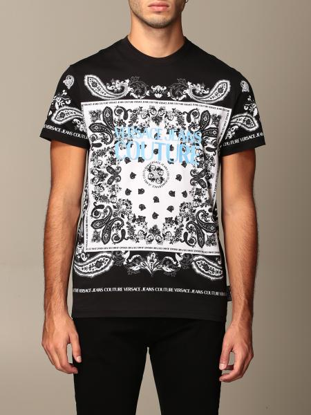 Versace Jeans Couture T-shirt with logo and paisley print