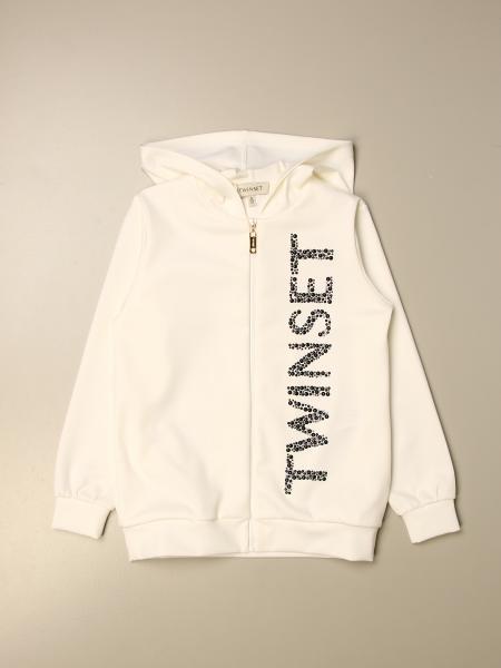 Twinset kids: Twin-set sweatshirt with hood and zip