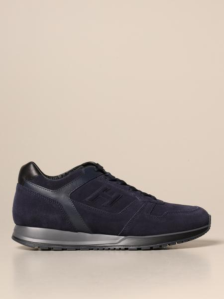 Hogan men: H321 Hogan sneakers in suede with H flock