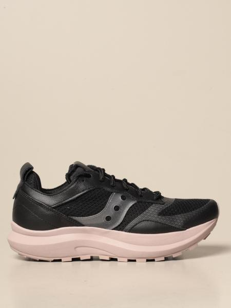 Saucony: Saucony sneakers in leather and mesh