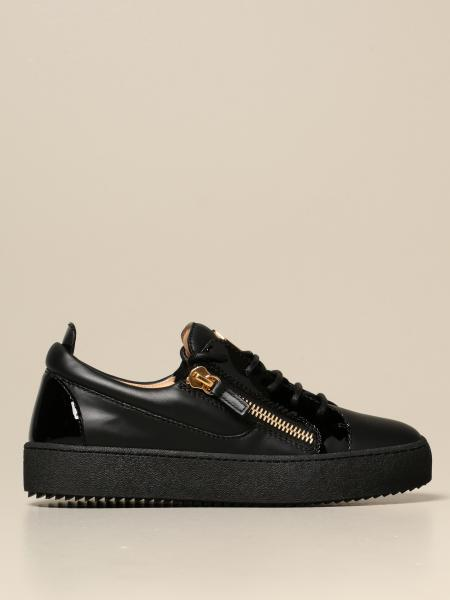 Giuseppe Zanotti Design: Giuseppe Zanotti Design sneakers in leather and patent leather
