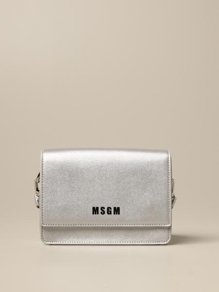 Msgm Kids mini bag in synthetic leather with logo