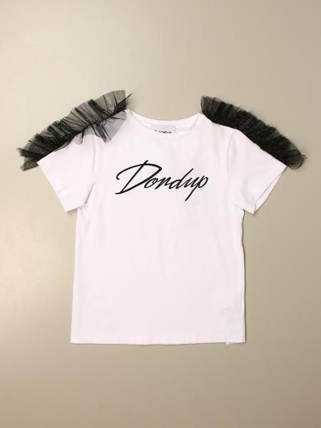 T-shirt Dondup con logo e rouches