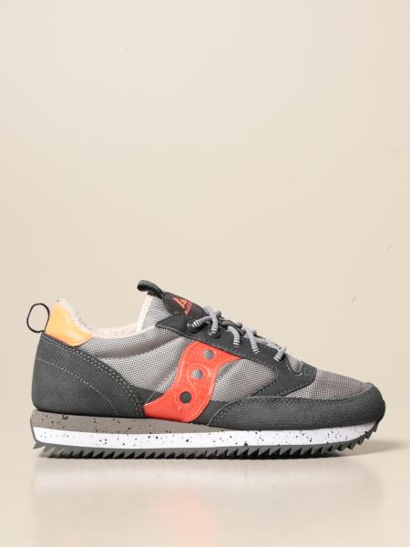 Saucony: Saucony sneakers in micro mesh and suede