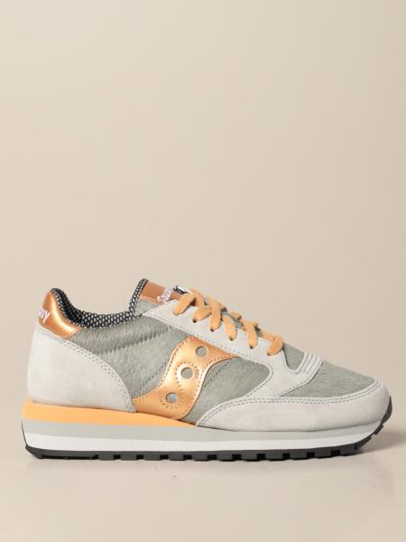Saucony: Jazz Triple Saucony sneakers in pony and suede
