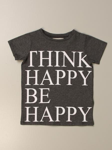 Douuod t-shirt in cotton with think happy be happy writing