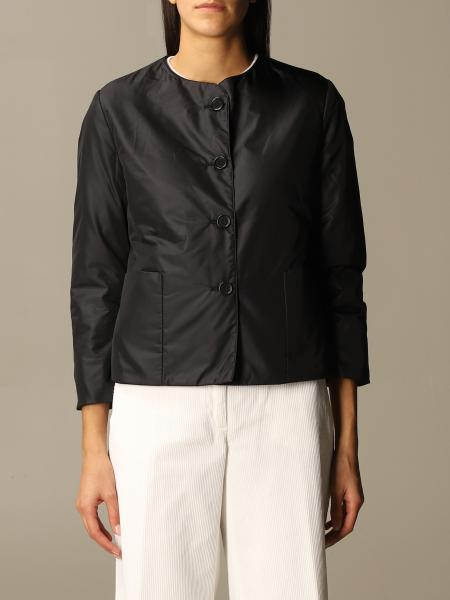 Aspesi crew-neck jacket with maxi buttons