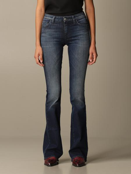 Roy Rogers: Roy Rogers jeans in used denim with flared bottom