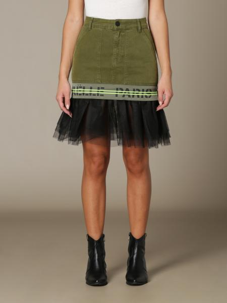 GaËlle Paris cotton skirt with tulle flounce