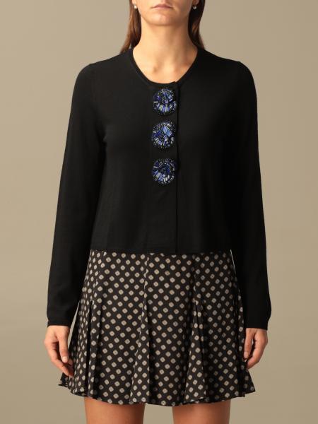 Maliparmi: Cardigan di lana Maliparmi con bottoni di perline