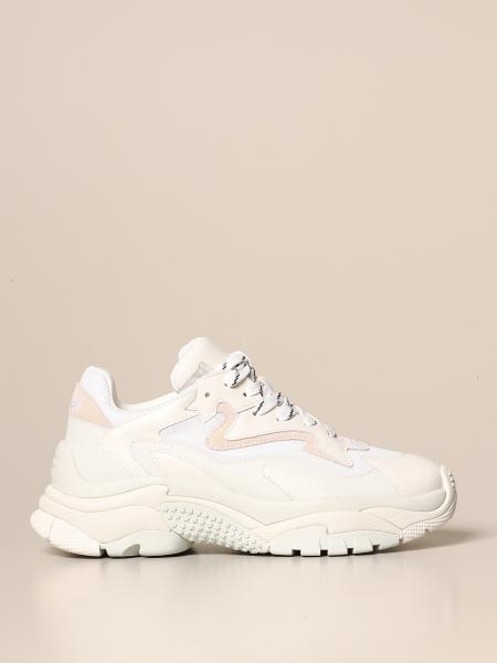 Ash: Atomic Ash sneakers in suede, mesh and nappa