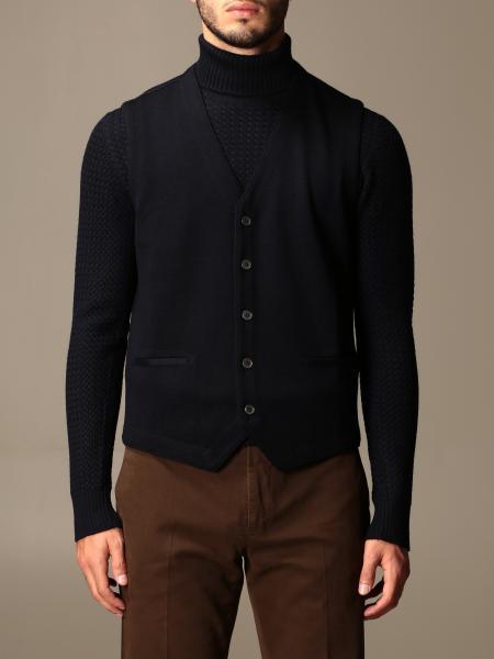 Gran Sasso: Gran Sasso basic v-neck vest in virgin wool