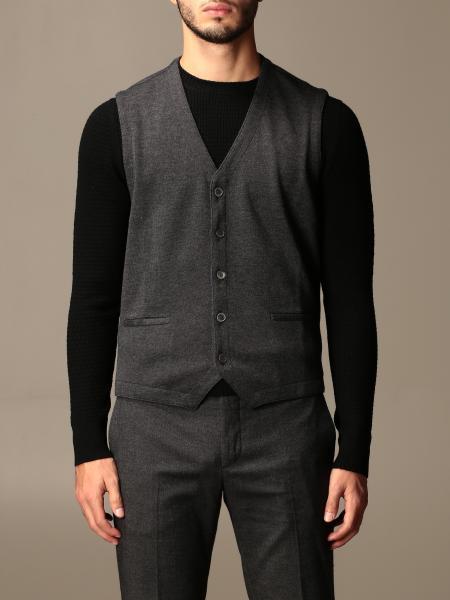 Gran Sasso basic v-neck vest in virgin wool