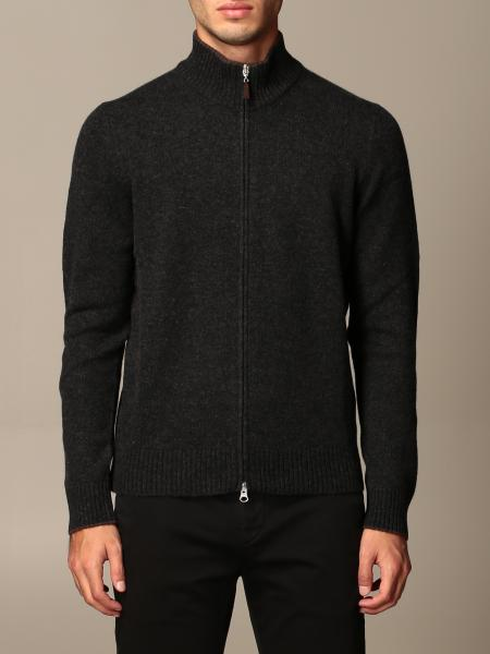 Gran Sasso: Gran Sasso cashmere cardigan with zip and patches