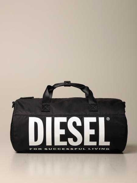Diesel duffel bag in nylon with printed logo