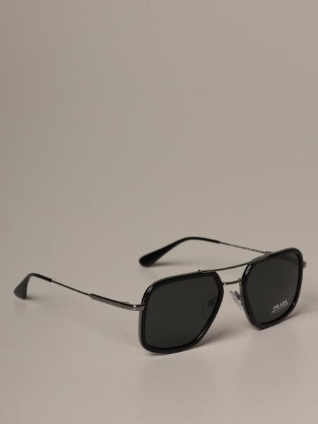 Prada sunglasses in acetate and metal with logo