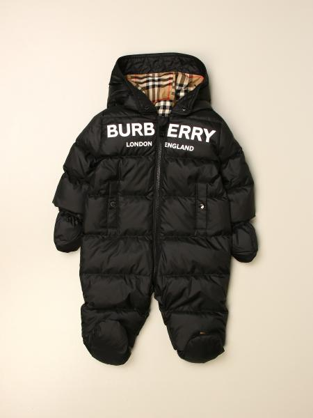 Burberry kids: Burberry footed jumpsuit in padded nylon