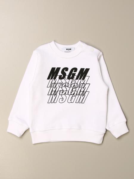 Msgm Kids crewneck sweatshirt with logo