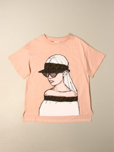 Fendi kids: Fendi T-shirt with print