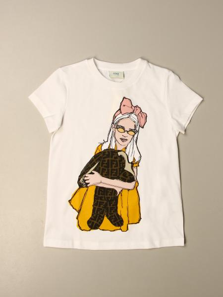 Fendi kids: Fendi cotton T-shirt with print