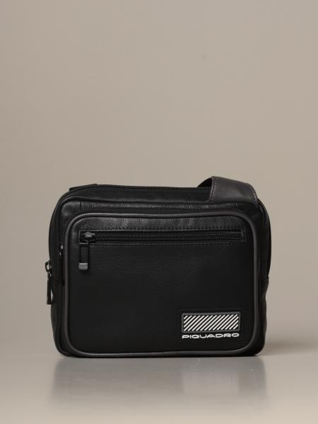 Piquadro: Piquadro crossover shoulder bag for iPad®mini Ermes