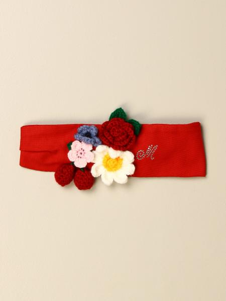 Monnalisa cotton headband with flowers