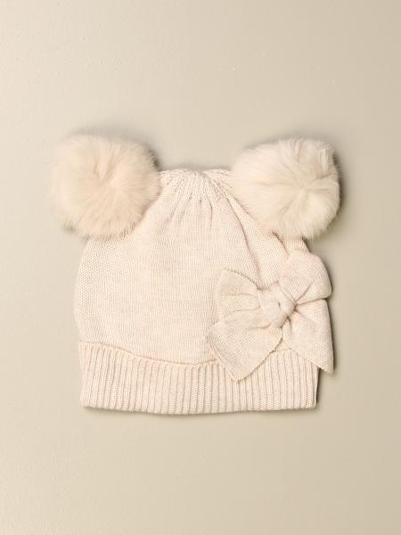 Monnalisa hat with pompom ears