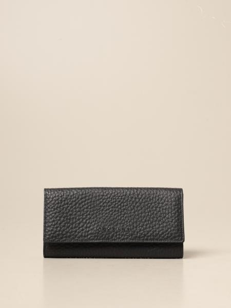 Orciani: Orciani wallet in grained leather with logo
