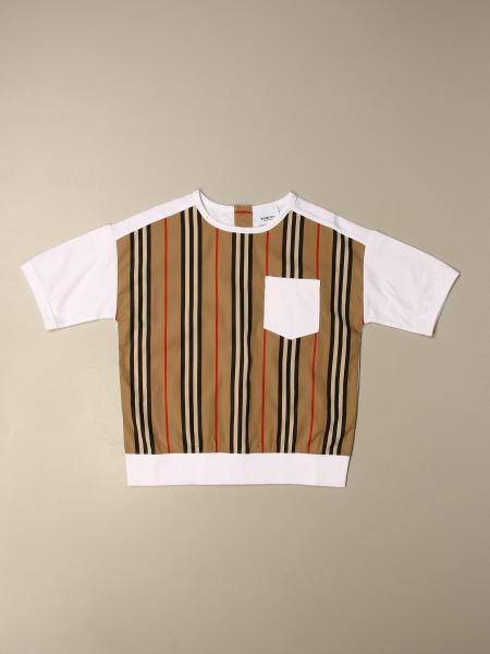 Burberry kids: Burberry striped sweater with patch pocket