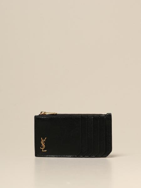 Saint Laurent credit card holder in shiny leather