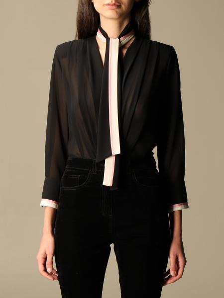 Body a camicia Elisabetta Franchi in georgette