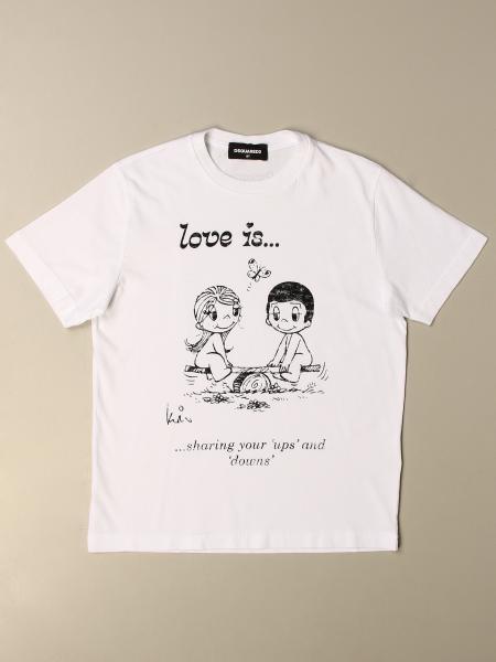 T-shirt Dsquared2 Junior in cotone con stampa
