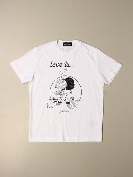T-shirt Dsquared2 Junior con stampa