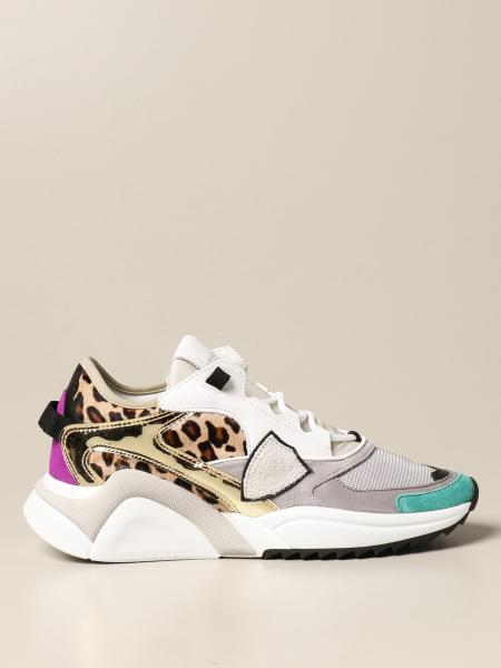 Sneakers Eze Philippe Model in cavallino leopardato e mesh