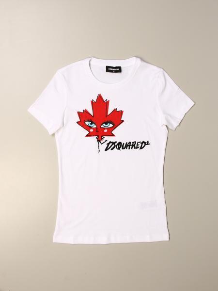 T-shirt Dsquared2 Junior con stampa logo