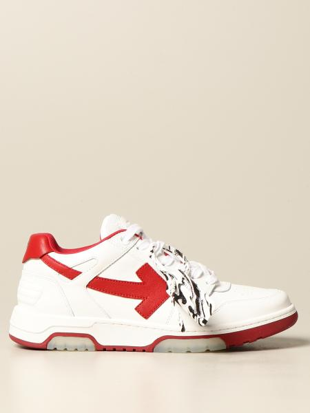 Off White men: Off White sneakers in smooth leather with arrow
