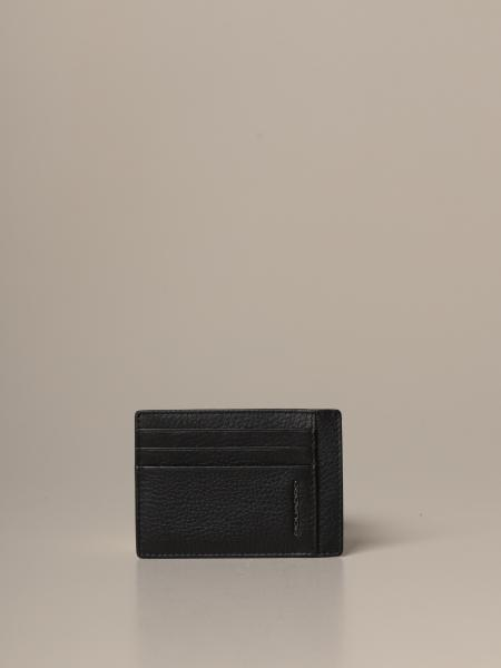Piquadro: Piquadro credit card holder in textured leather