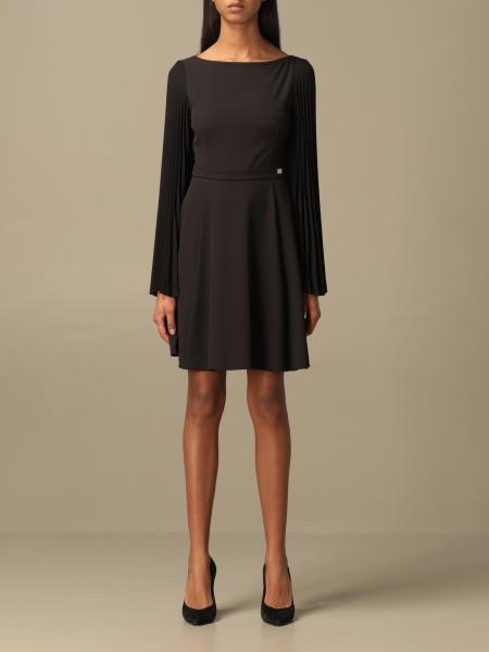 Be Blumarine: Be Blumarine short dress with pleated sleeves