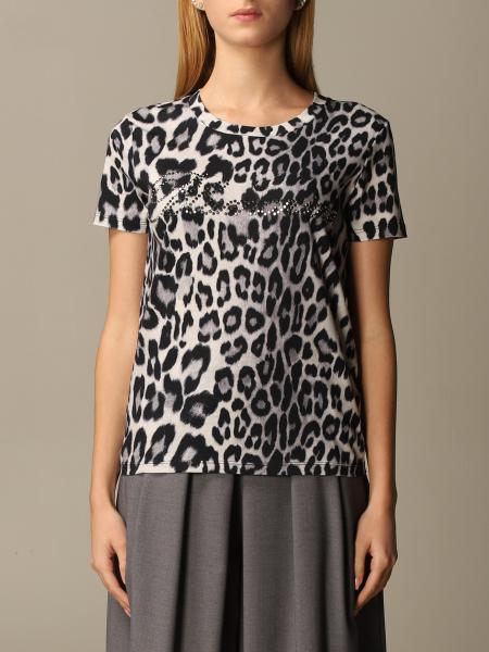 Blumarine: T-shirt Blumarine a fantasia animalier