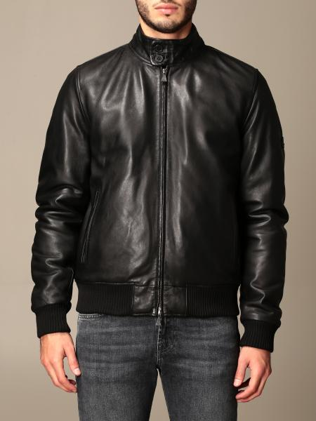Roy Rogers: Roy Rogers leather bomber jacket with zip