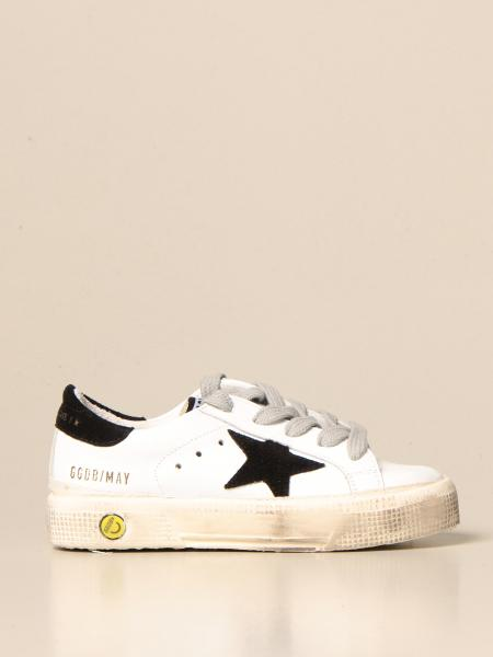 Golden Goose bambino: Sneakers May Golden Goose in pelle