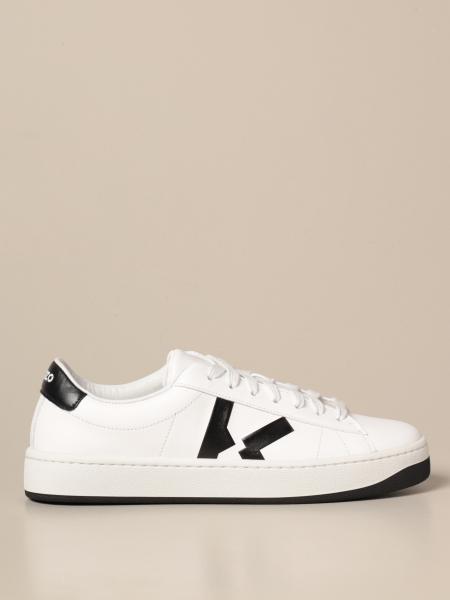 Kenzo: Kenzo leather sneakers with logo