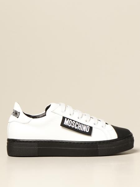 Sneakers Moschino Kid in pelle con logo