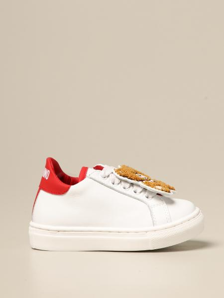 Sneakers Moschino Kid in pelle con patch Teddy