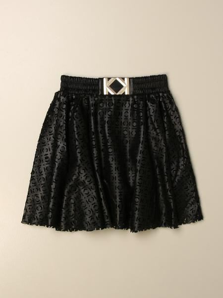 Karl Lagerfeld skirt with all-over perforated logo