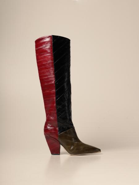 Lila Tory Burch boots in eel skin